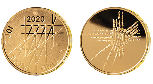 University of Turku 100 years 100 € gold coin