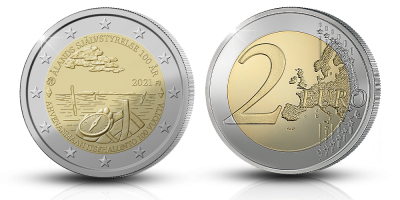 Åland Autonomy 100 Years special two euro coin
