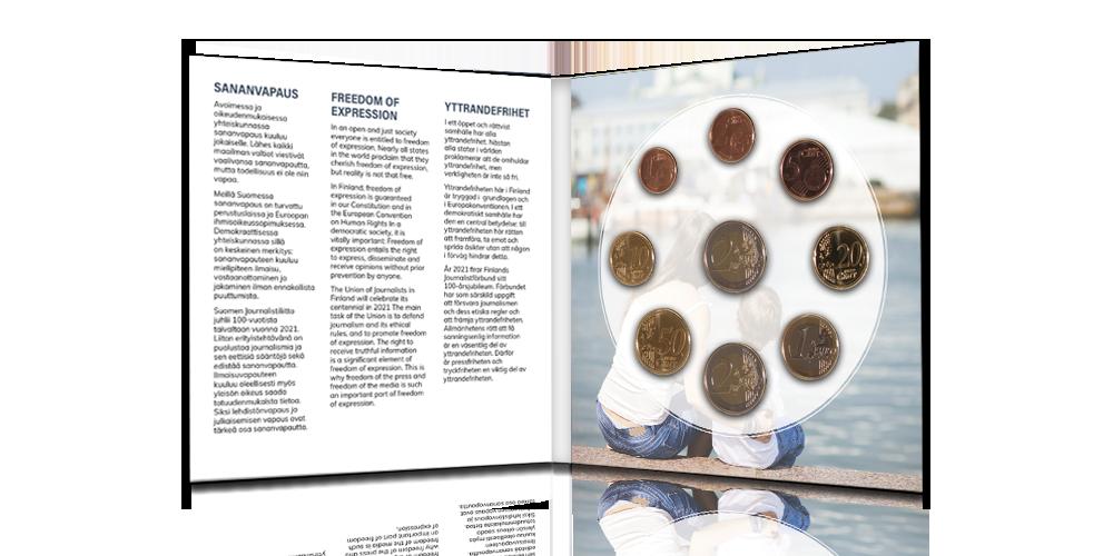 Finnish circulation coins 2021, unused