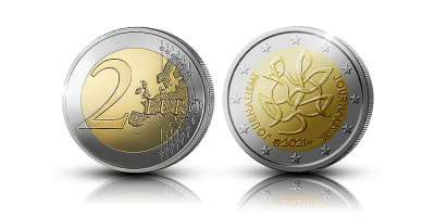 Journalism and Free Press Supporting Finnish Democracy special two euro coin