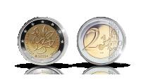 Ett nytt finskt specialmynt med valören 2 euro 2021, proof
