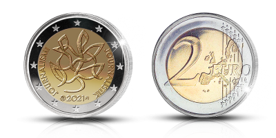 Journalism and Free Press Supporting Finnish Democracy special two euro coin, proof