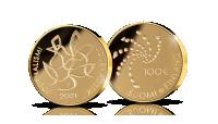 Nimellisarvoltaan 100 euron kultaraha kunnioittaa Suomen Journalistiliiton 100-vuotisjuhlavuotta