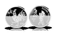 Jubileumsmynt i silver firar lagen om läroplikt
