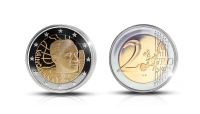 Väinö Linna depicted on a 2020 commemorative coin
