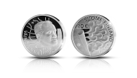 The second silver commemorative coin of 2020 Väinö Linna