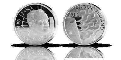 Numbered Väinö Linna 100 years commemorative coin